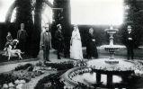 Nimock family in garden