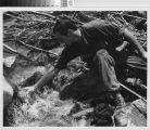 Soldier resting at creek - Vietnam