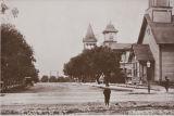 B.F. Conaway photograph of Church Street, Santa Ana