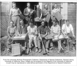 Agronomy III, Field Practice, Henry Wadsworth, top left, Pete Parker, bottom, third from left, Tony Gillium, bottom, fourth from left, Bill Hubbard, top, second from right, G.W. Hendry, bottom right