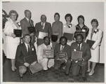 Photograph of members of the Cal State Hayward Athletic Hall of Fame inducted in 1986