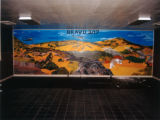 Photograph of interior mural in Bldg. 2128