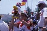 "[1984 Olympics Cycling Road Race showing ""Sam the Olympic Eagle"" mascot slide]."