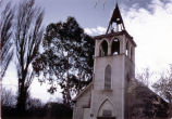 St. Raymond's Church restoration of the bell tower (1977), photograph