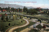 """Postcard: """"Allerton's Garden, South Pasadena, looking towards the Raymond"""""""