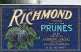Richmond Brand Fruit Crate Label