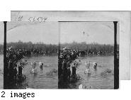 Russian Pilgrims in the River Jordan on the Festival of Epiphany, Palestine