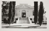 Beaumont Library District building postcard.