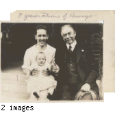 Bill Henry (right) with his daughter, Peggy Henry, and his father, Dr. John Quincy Adams Henry.
