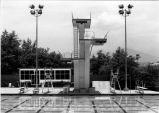 [Diving platform and springboards at the Mission Viejo Aquatics Swim Complex, circa 1977 photograph].