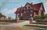 Postcard: Torrance-Childs House, South Pasadena, about 1908