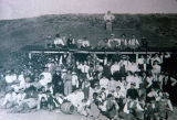 Photograph of a party at the Garvey Ranch House