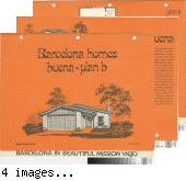 [Barcelona Homes, Buena, plan B floor plan and exterior renderings brochure].