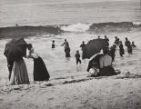 B.F. Conaway photograph of beach goers at Newport Beach