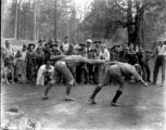 Boys Playing at Boy Scout Camp
