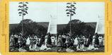 Eadweard Muybridge stereoscopic photograph of students in the garden