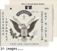 Eleventh Infantry Organization Day 16 July 56