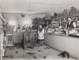 Lou P. Hickox photograph of interior of Edgar Grocery Store