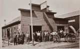 B.F. Conaway photograph of Spangler & Johnson's blacksmith shop