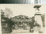 Postcard of the Tollgate at the Entrance to the Hacienda at New Almaden.