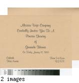 [Mission Viejo Company cordially invites you to a preview showing of Granada Homes invitation].