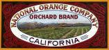 "Crate label, ""Orchard Brand."" National Orange Company, Riverside, Calif."