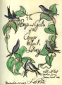 Song of the swallows  [original artwork on flyleaf]