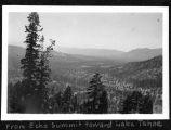 From Echo Summit toward Lake Tahoe