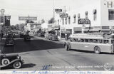 Downtown Banning, California street corner in 1935