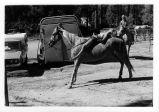 Girl on horseback in Cuyamaca Rancho State Park