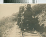 Last trip down Mount Tamalpais for engine No. 8 on the Mount Tamalpais and Muir Woods Railway