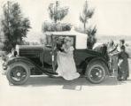 Stagecoach Days parade car with Virginia Barker
