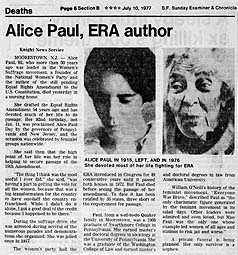 alice paul  era author   s f