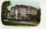 Postcard of College Hall at Mills College