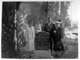 Dedication of memorial gravemarker of Greek George