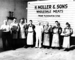 H. Moller and Sons Wholesale Meats, (c. 1949), photograph