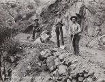 Photograph of building a road above San Juan Hot Springs.
