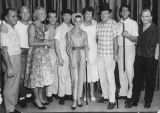 Cast of famous entertainers at the Banning Theater