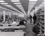 A photograph of the interior of the Library, likely in the southwestern corner of the Upper Mall.
