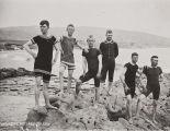B.F. Conaway photograph of young men at Laguna Beach