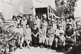 Guadalupe Women's Association Ladies Meeting at the original Guadalupe Buddhist Church : 1926.