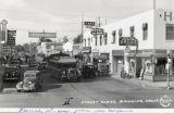 Downtown Banning, California street scene in 1935