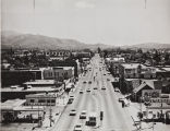 Foothill Boulevard looking east, Azusa, 1965