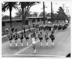 Photograph of Valencia High School Band and Majorettes
