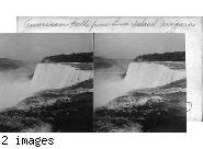 American Falls from Luna Island, Niagara, U.S.A.