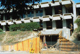 Slide of the construction of the University Union Loop Road entrance