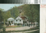 Postcard of the Mineral Springs Fountain and Bath House At Alum Rock Park