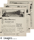 Beaumont Land & Water Company brochure advertising La Mesa Miravilla development.