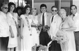 Photograph of council members with Miss Monterey Park 1985 winners and contestants.