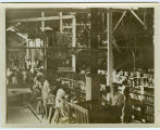 An interior view of the G. W. Hume Company cannery in Turlock, California, circa 1930.